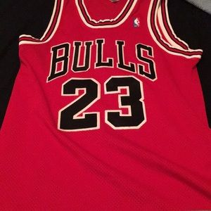 Michael Jordan Authentic Jersey Red Number 23